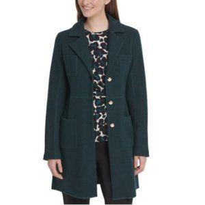 DKNY Beautiful Decay Wool Coat 16 Green